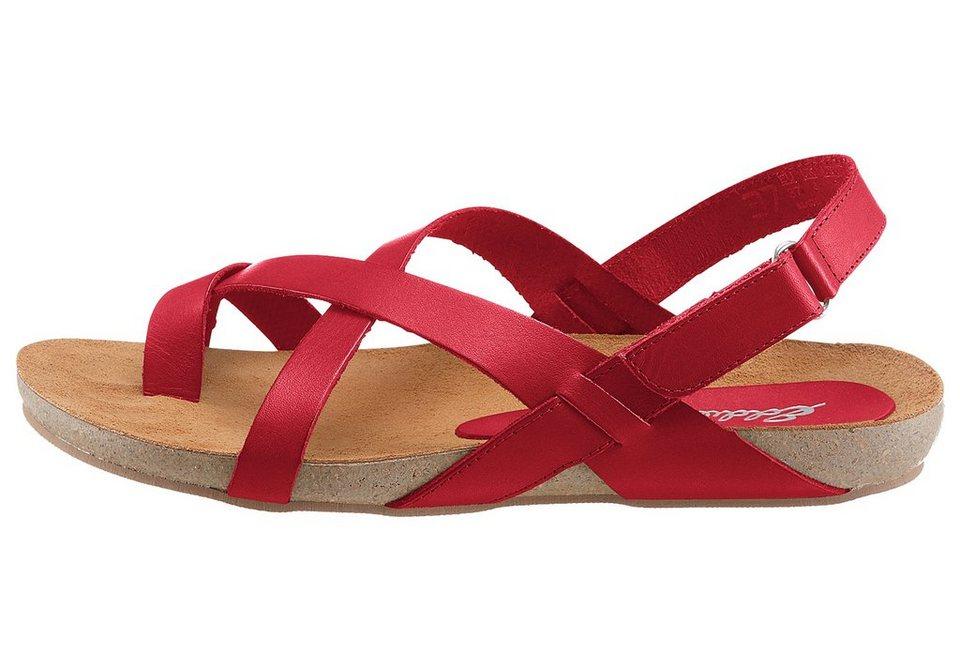 Eddie Bauer Leder-Sandale in Rot