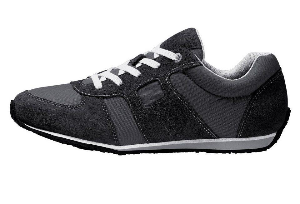 Eddie Bauer Damen-Leder-Sneaker in Schwarz