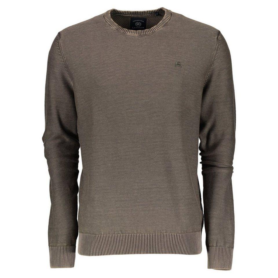 LERROS Crewneck Sweater in DARK BROWN
