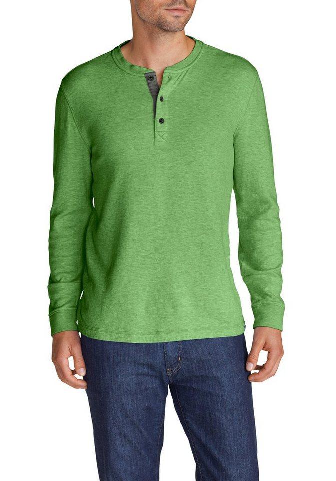 Eddie Bauer Henley-Shirt in Grün meliert