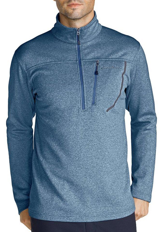 Eddie Bauer Fleece-Pullover in Blau meliert