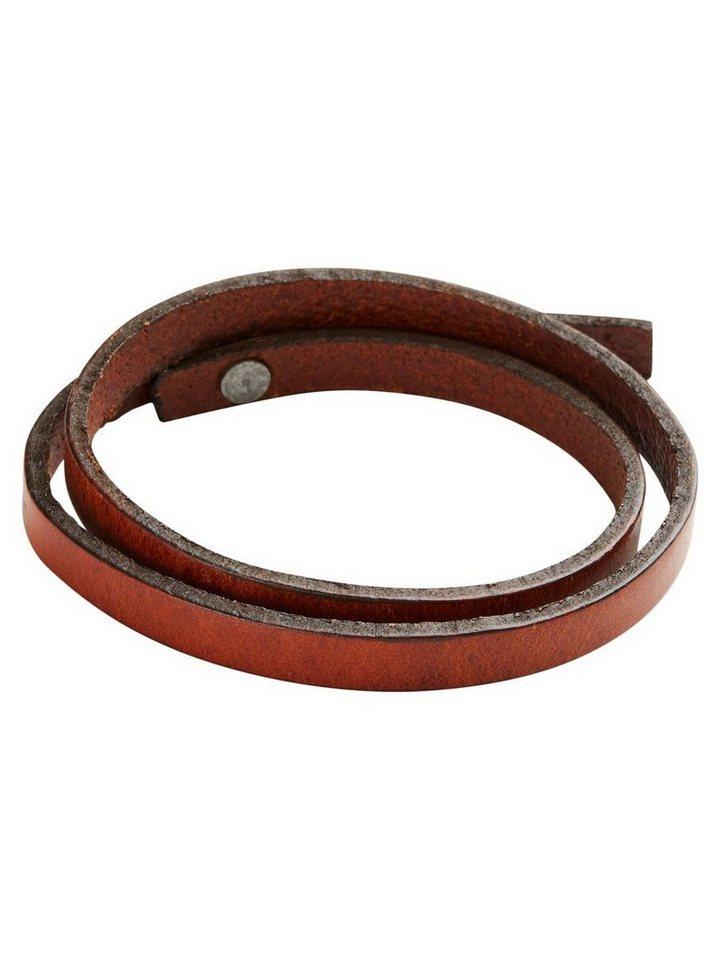 Jack & Jones Leder- Armband in Cognac