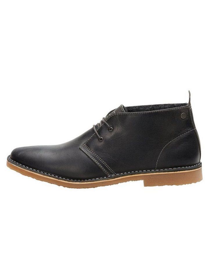 Jack & Jones Leder- Stiefel in Black
