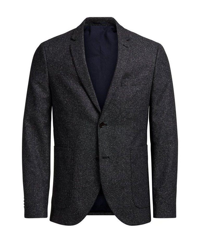Jack & Jones Melange- Blazer in Dark Grey