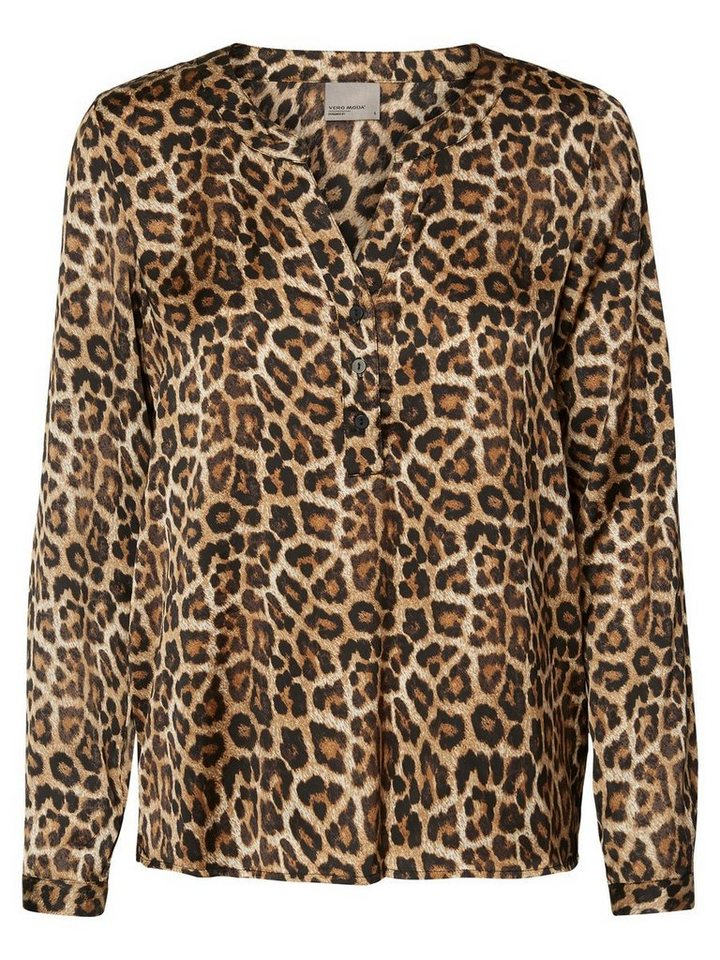 Vero Moda Leopard- Langarmhemd in Black