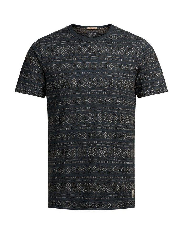 Jack & Jones Gemustertes T-Shirt in Caviar