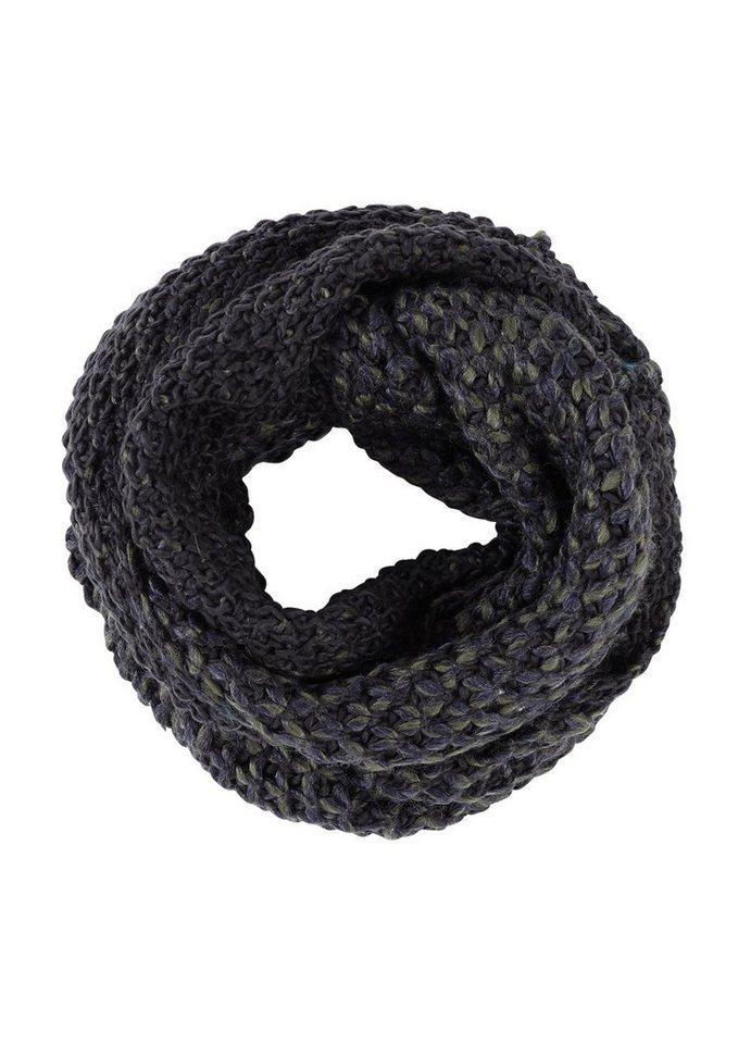 s.Oliver RED LABEL Grobstrick-Loop in Melange-Optik in blue knit