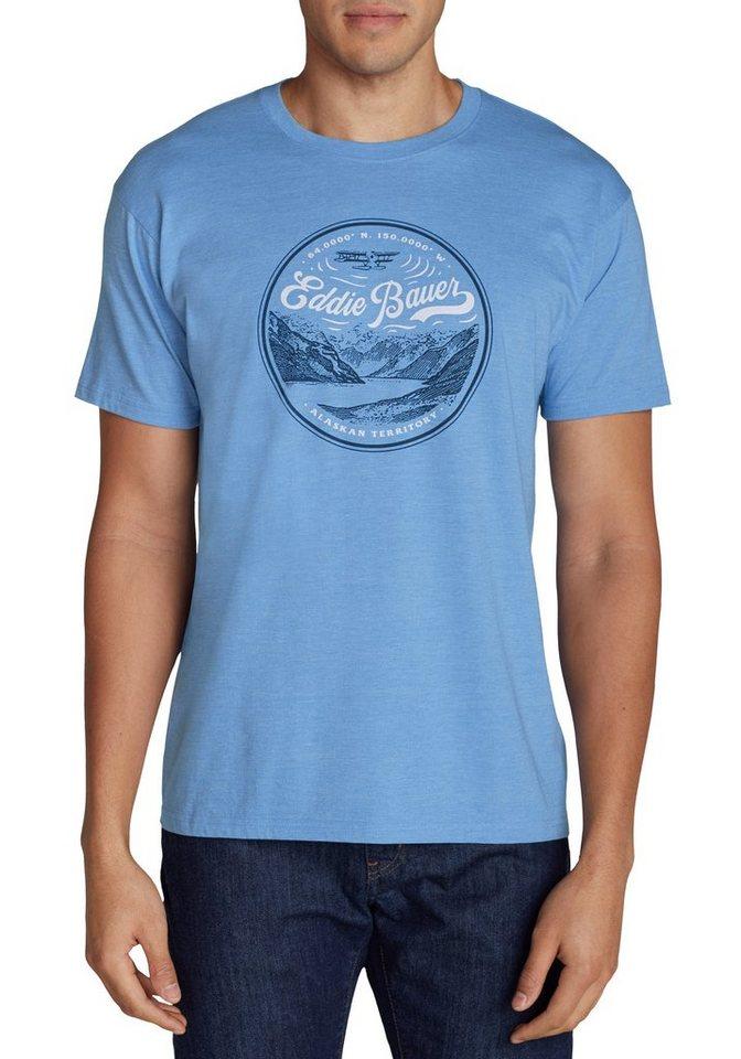 Eddie Bauer Alaskan Territory Shirt in Hellblau meliert