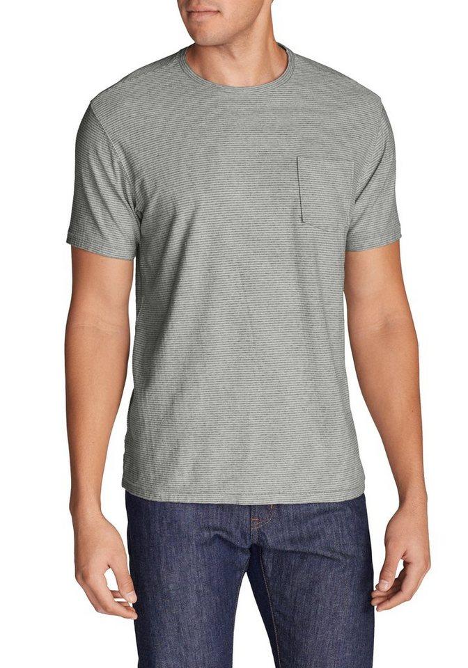 Eddie Bauer T-Shirt gestreift in Hellgrau