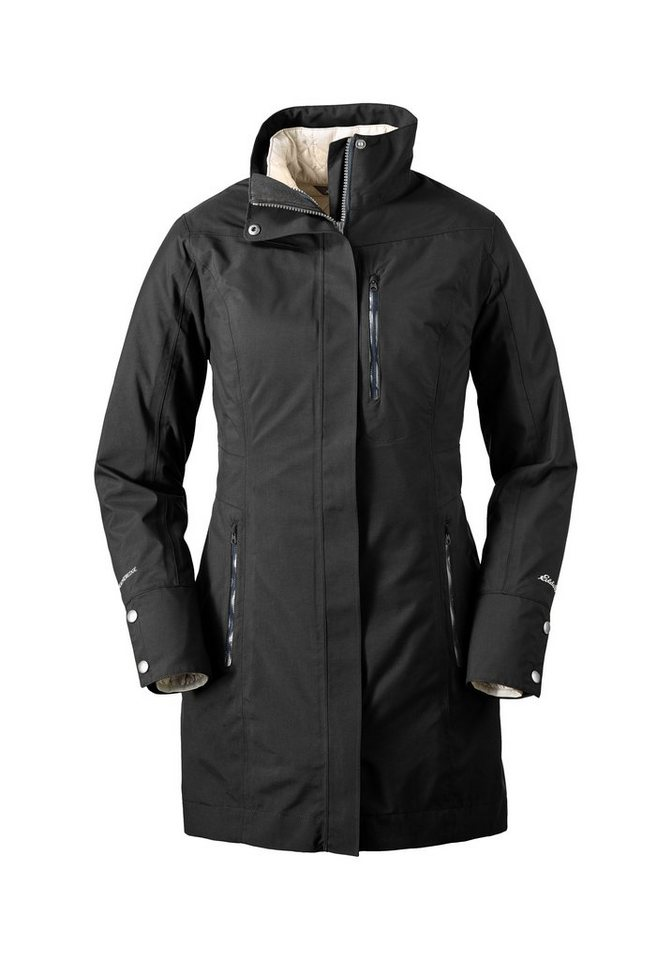Eddie Bauer Eastside 2-in-1-Trenchcoat in Schwarz
