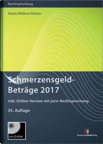 Gebundenes Buch »SchmerzensgeldBeträge 2017 (Buch mit CD-ROM...«