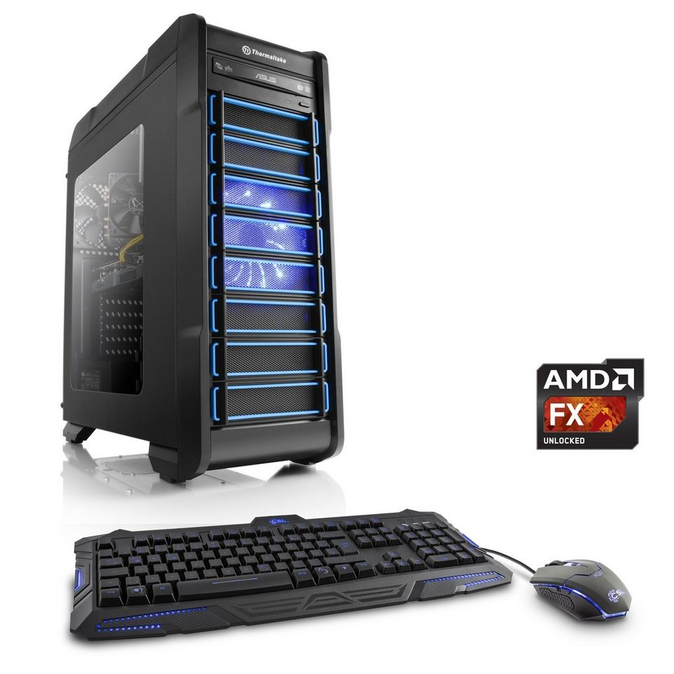 CSL Gaming PC | AMD FX-8370E | GeForce GTX 1060 | 8 GB DDR3 RAM »Levitas T6060 Windows 10«
