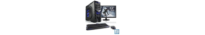 "CSL Gaming PC Set | i5-6600 | GTX 1060 | 16 GB DDR4 RAM | 24"" TFT »Speed T5696 Windows 10 Home«"
