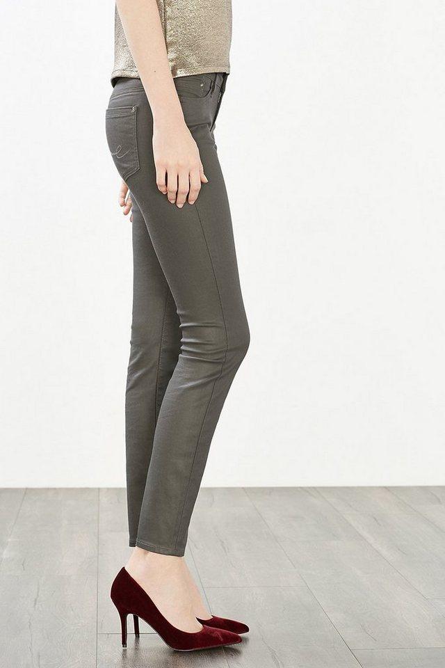 EDC Beschichtete 5-Pocket Stretch-Jeans in GREY RINSE