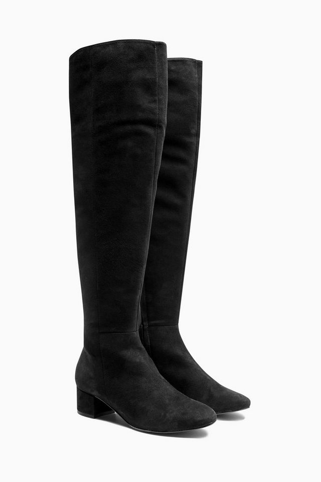 Next Overknee-Stiefel in Black Suede