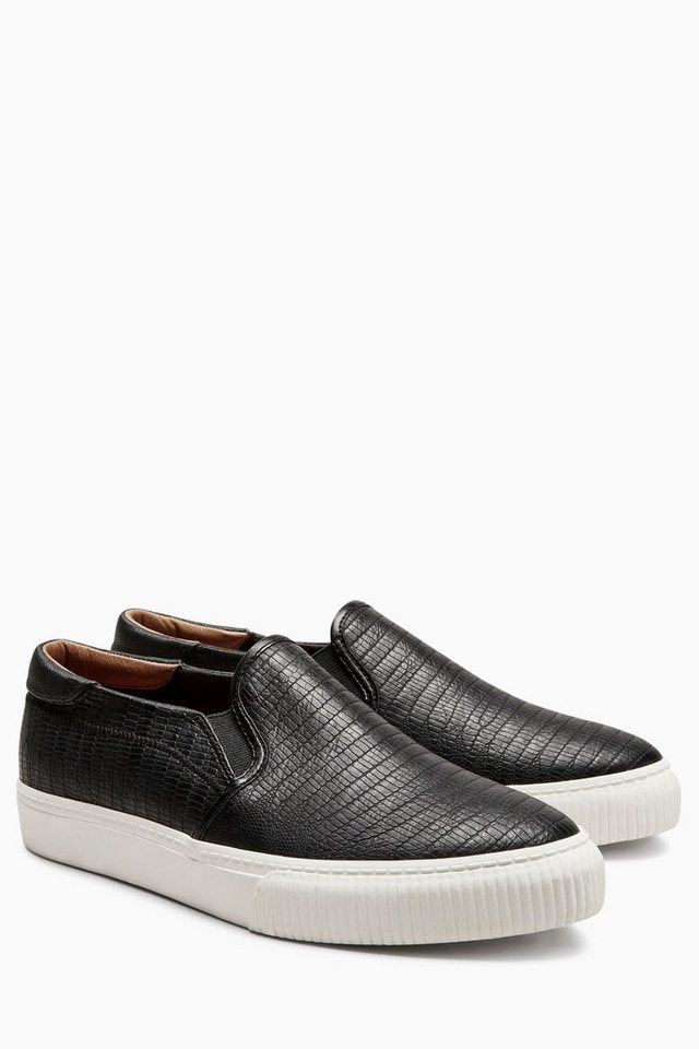Next Slip-On Sneaker in Black Snake