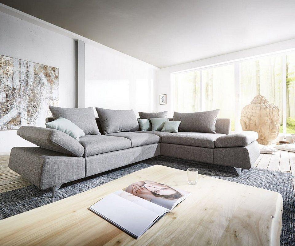 delife eckcouch scorpius grau 270x220 cm ottomane otto. Black Bedroom Furniture Sets. Home Design Ideas