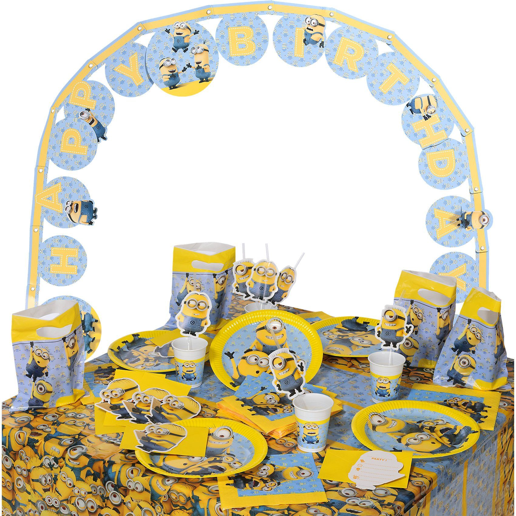Procos Partyset Lovely Minions, 56-tlg.