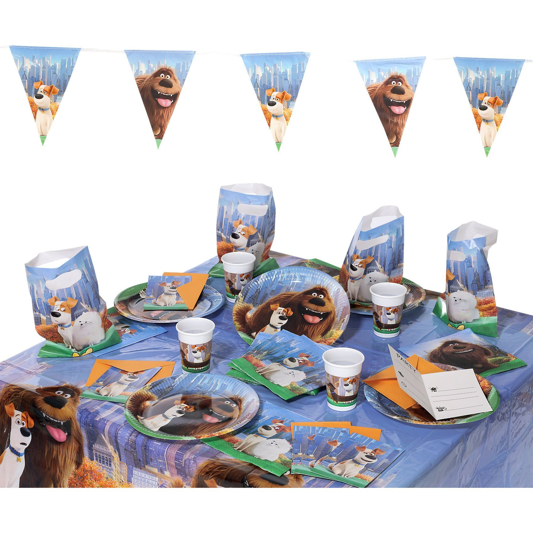 Procos Partyset Secret Life of Pets, 50-tlg.