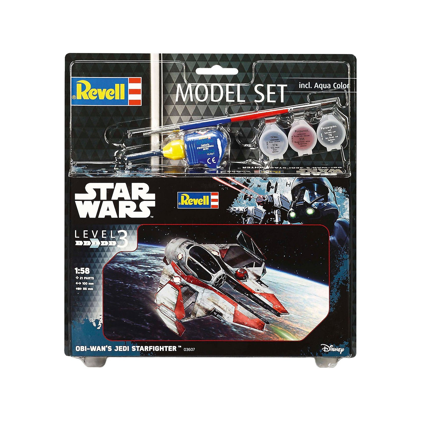 Revell Modellbausatz - Model Set Star Wars Obi Wan's Jedi Starfight