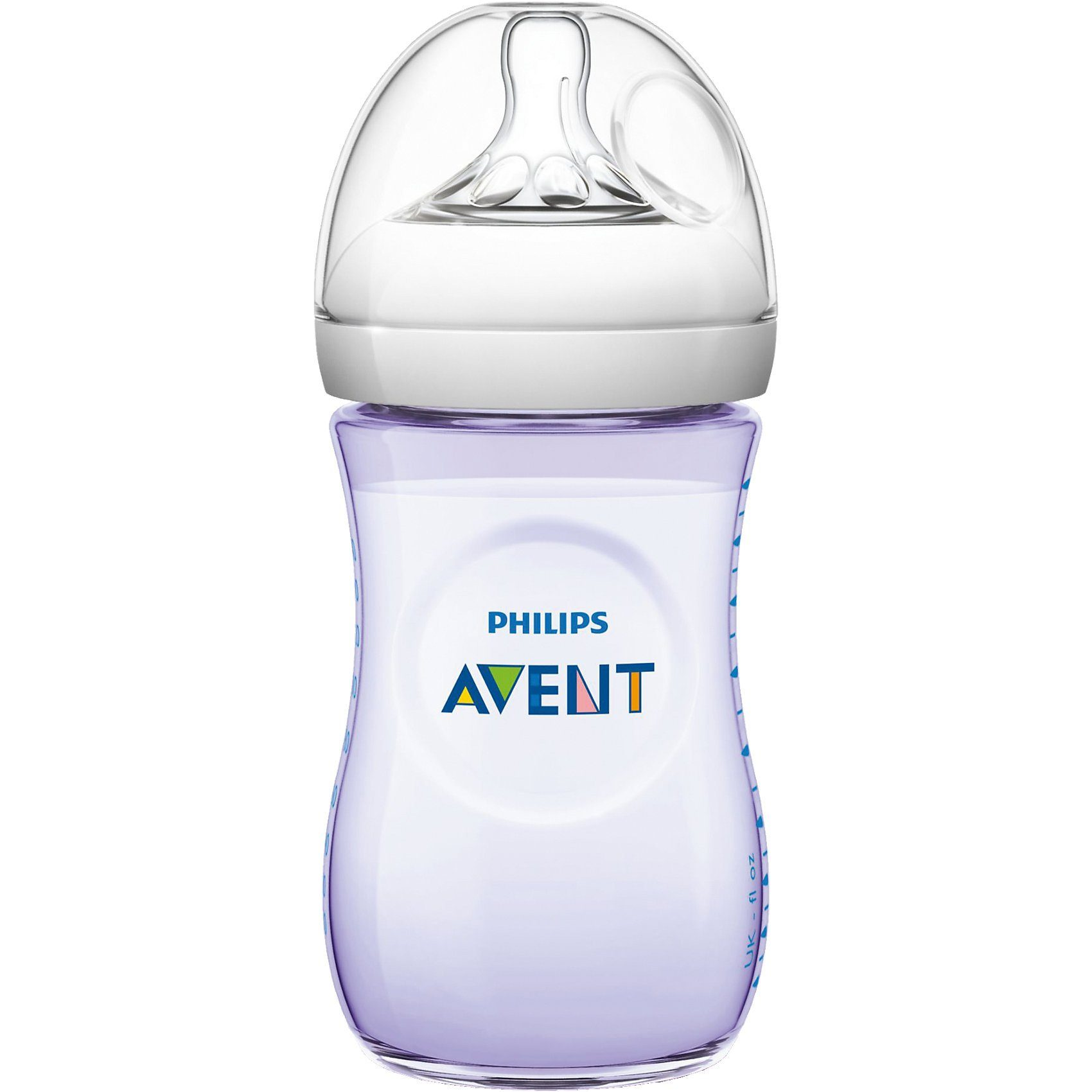 PHILIPS AVENT Weithals Flasche Naturnah SCF693/14, PP, 260 ml, Silikonsaug