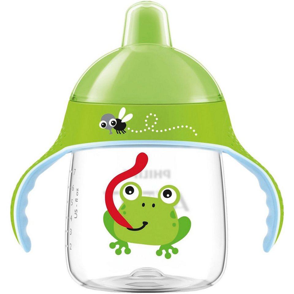 PHILIPS AVENT Trinklernflasche SCF753/09, 260 ml, Trinkschnabel, Frosch