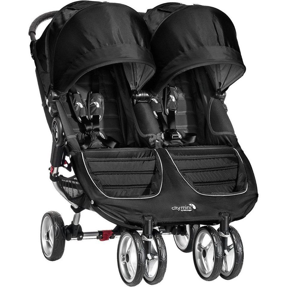 Baby Jogger Zwillings- und Geschwisterwagen City Mini Double, black/ bla in schwarz