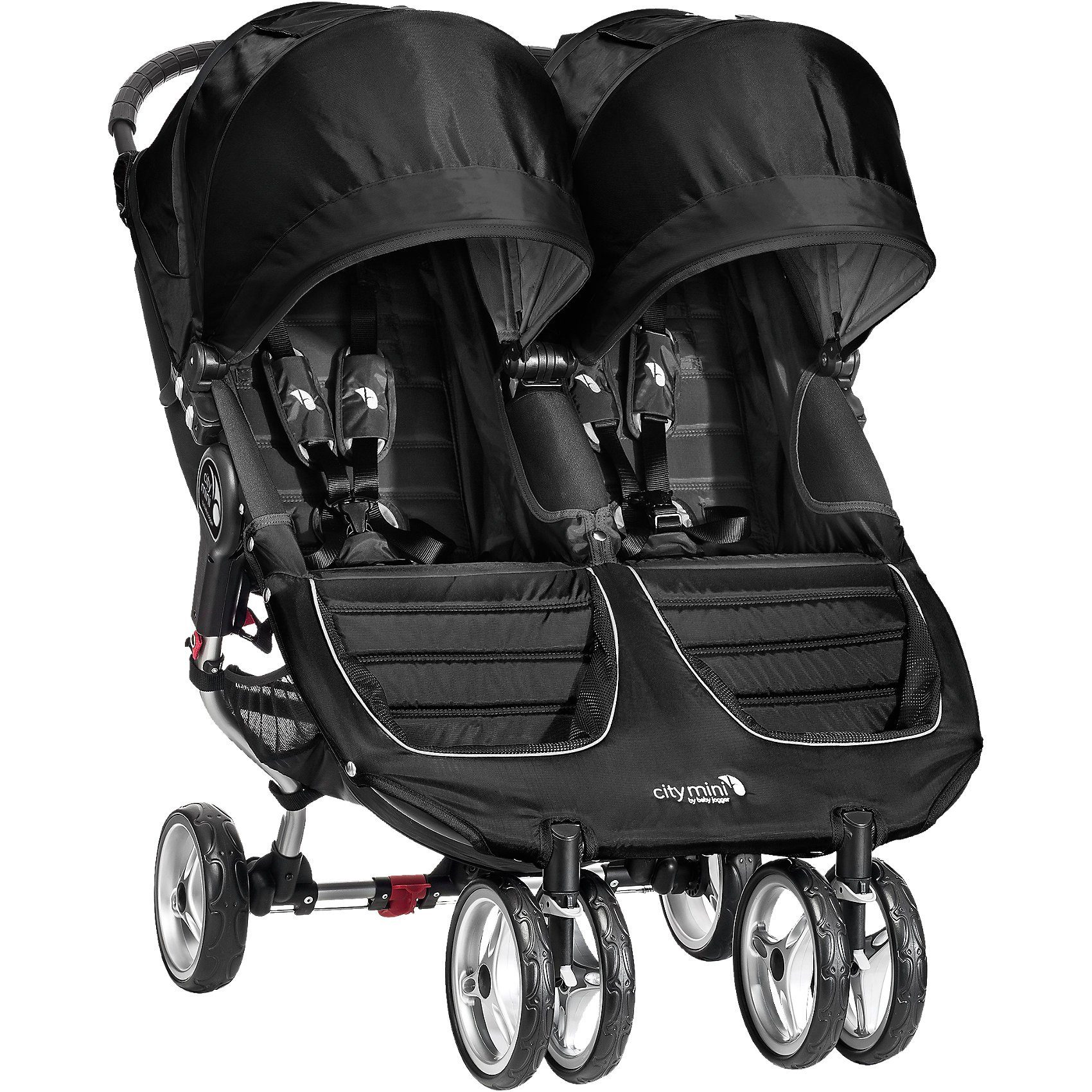 Baby Jogger Zwillings- und Geschwisterwagen City Mini Double, black/ bla