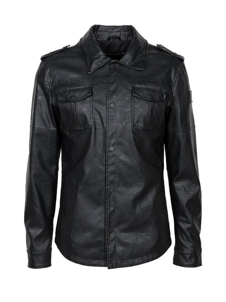 Freaky Nation Lederimitatjacke »Joe's Garage 1« in black
