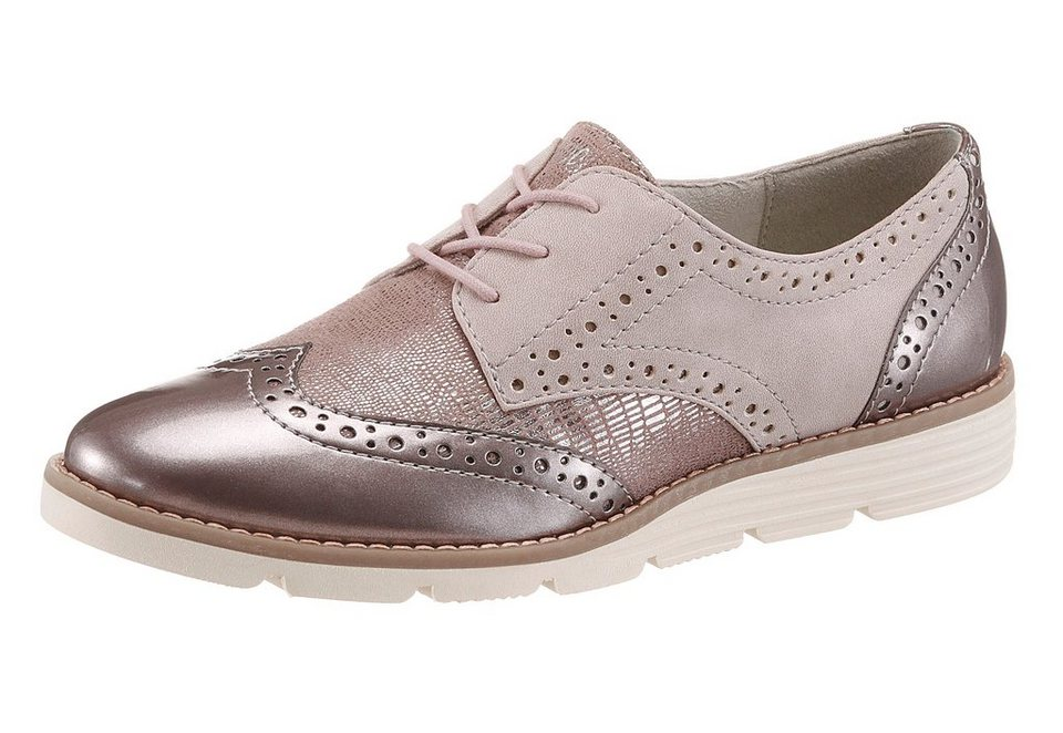 s.Oliver RED LABEL Schnürschuh mit Soft Foam-Ausstattung in rosé