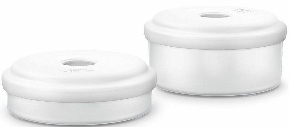 Philips Avent Mehrwegbecher zur Nahrungsaufbewahrung SCF876/02, 2 Becher à 120ml und 240ml in weiß