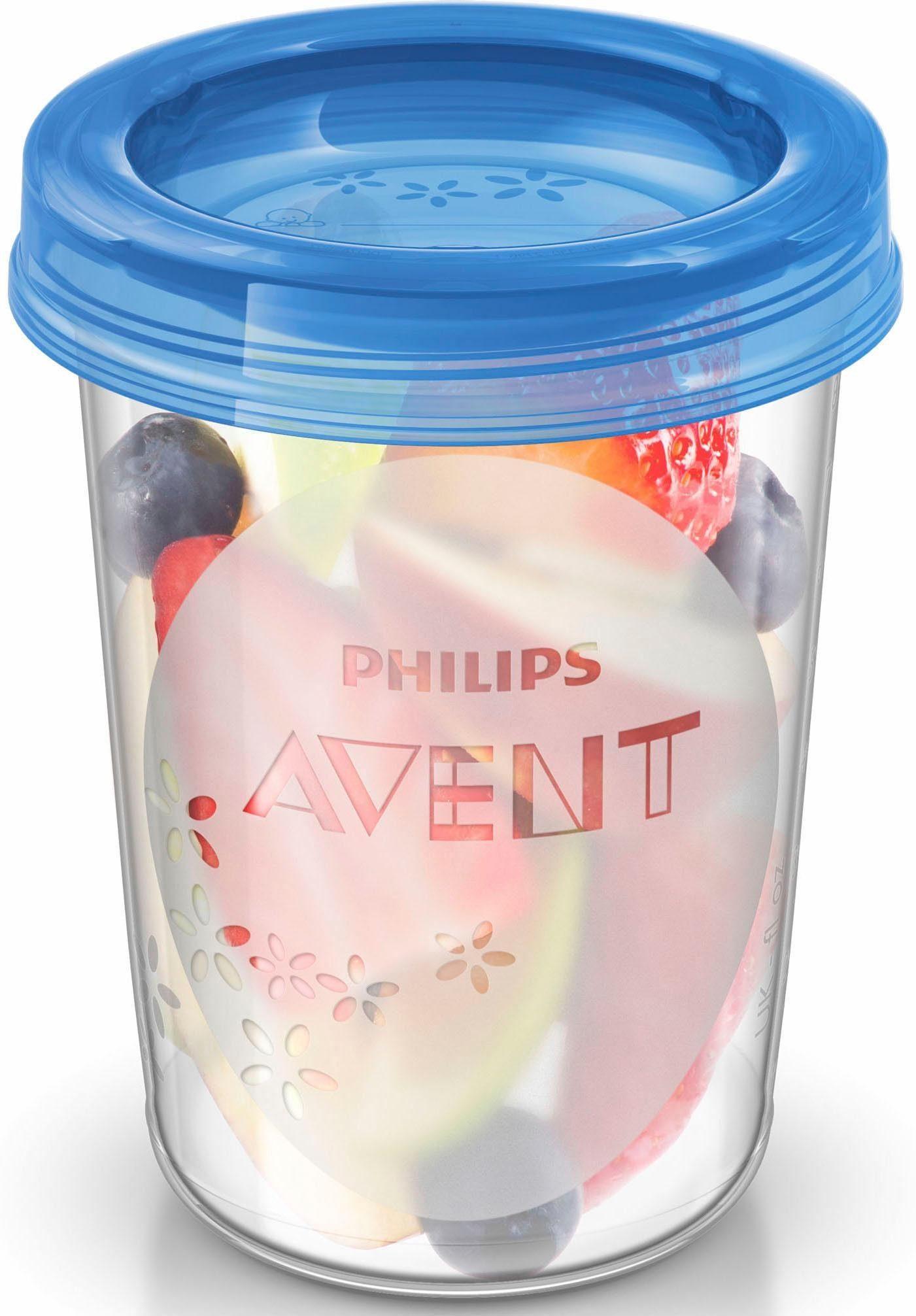 Philips Avent Aufbewahrungsbecher für Babynahrung SCF639/05, 5x 240 ml Becher inklusive Deckel