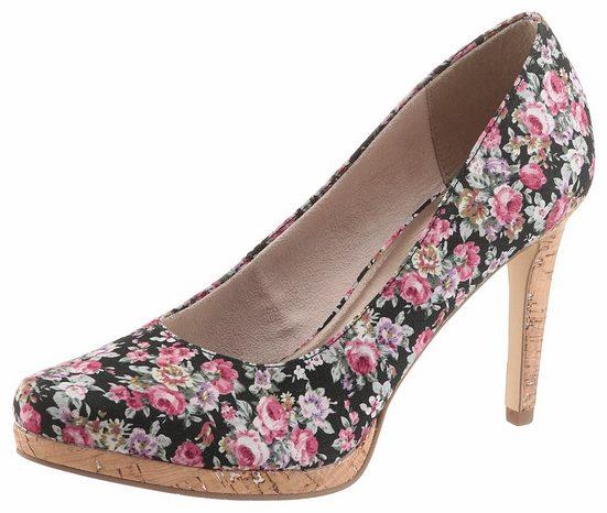 Mit pumps Tamaris High Blumenmuster heel H6q4xTpw