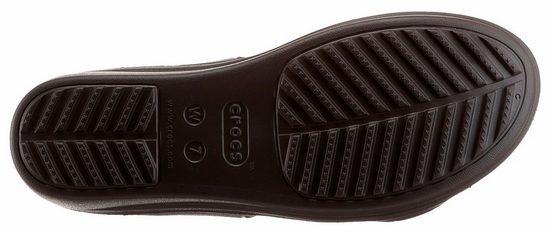 Crocs Sanrah Embellished Wedge Pantolette, mit ergonomisch geformtem Fußbett