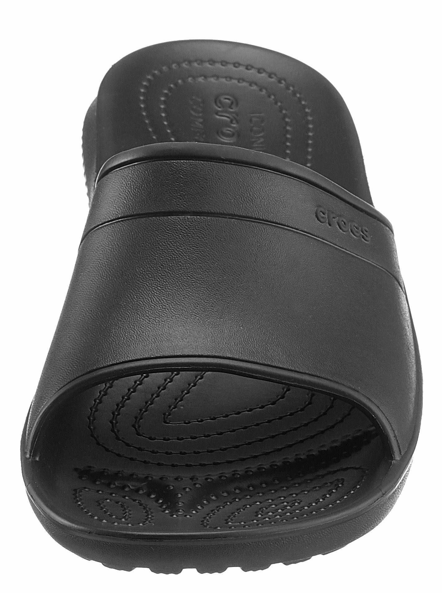 Crocs Classic Slide Pantolette, Leichtgewicht  schwarz