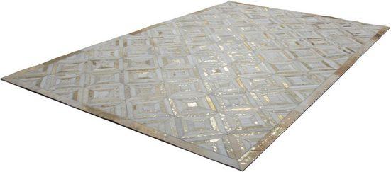 Teppich »Spark 410«, Kayoom, rechteckig, Höhe 8 mm, Patchwork-Leder