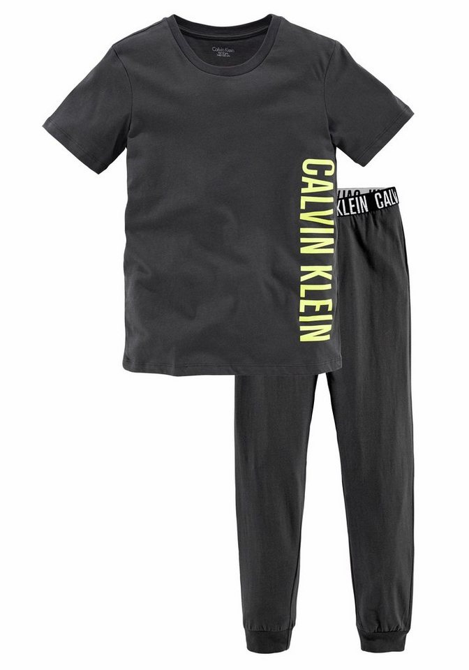 Calvin Klein Pyjama in dunkelgrau