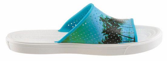 Crocs CitiLane Roka Tropical Slide M Pantolette, mit Palmenmotiv