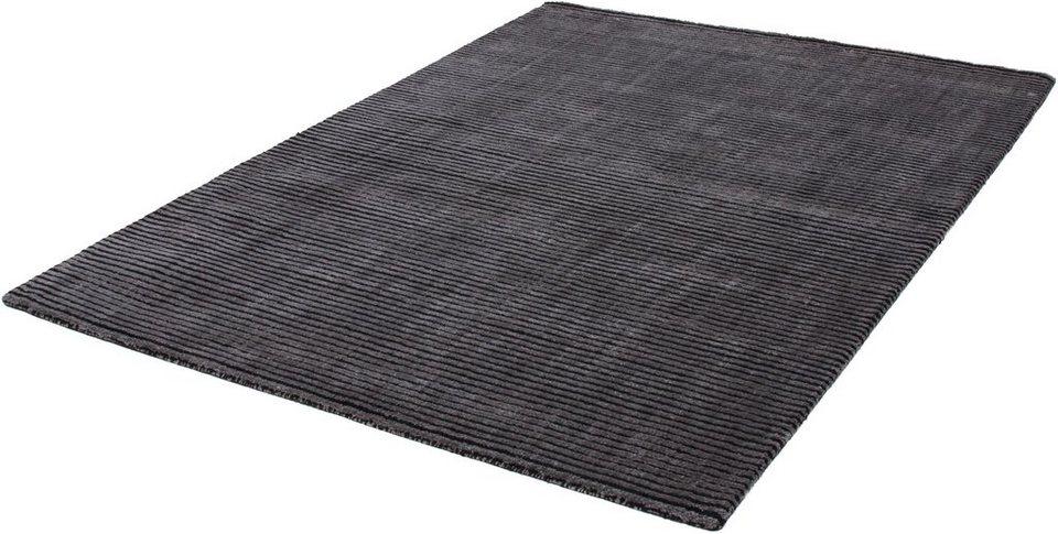 Teppich, Kayoom, »Giada 210«, handgewebt in Anthrazit