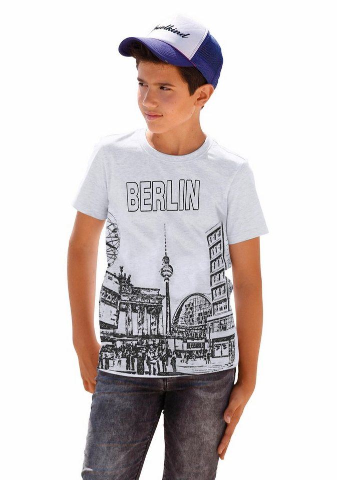 "Arizona T-Shirt ""Berlin"" in grau-meliert"