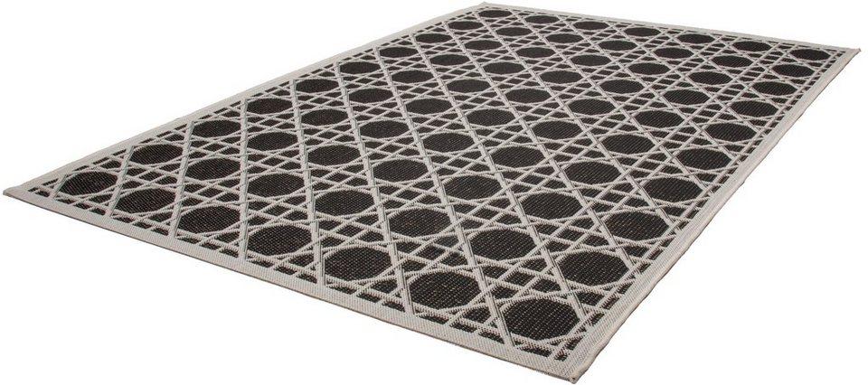 Teppich, Kayoom, »Equator 320«, In- und Outdoor geeignet, gewebt in Schwarz