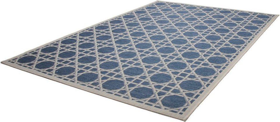 Teppich, Kayoom, »Equator 320«, In- und Outdoor geeignet, gewebt in Blau