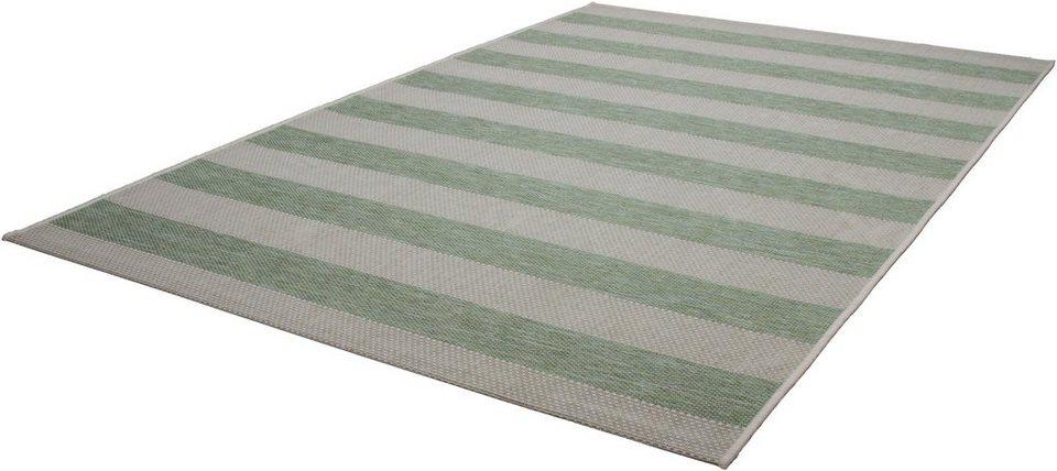 Teppich, Kayoom, »Equator 400«, In- und Outdoor geeignet, gewebt in Grün