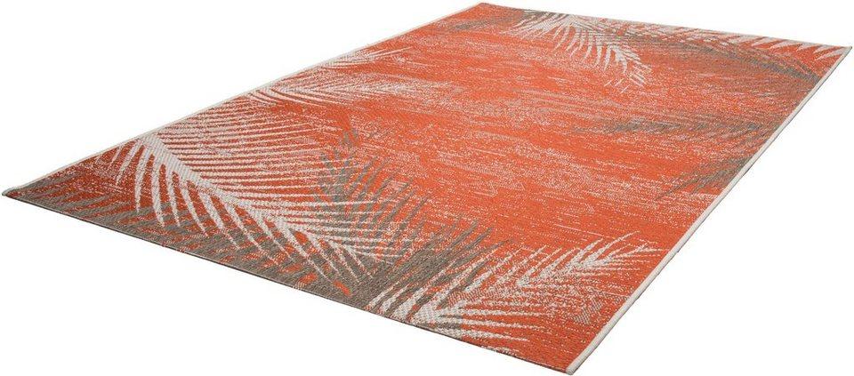 Teppich, Kayoom, »Equator 340«, In- und Outdoor geeignet, gewebt in Orange