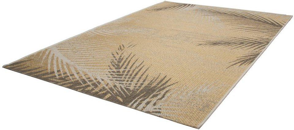 Teppich, Kayoom, »Equator 340«, In- und Outdoor geeignet, gewebt in Gelb