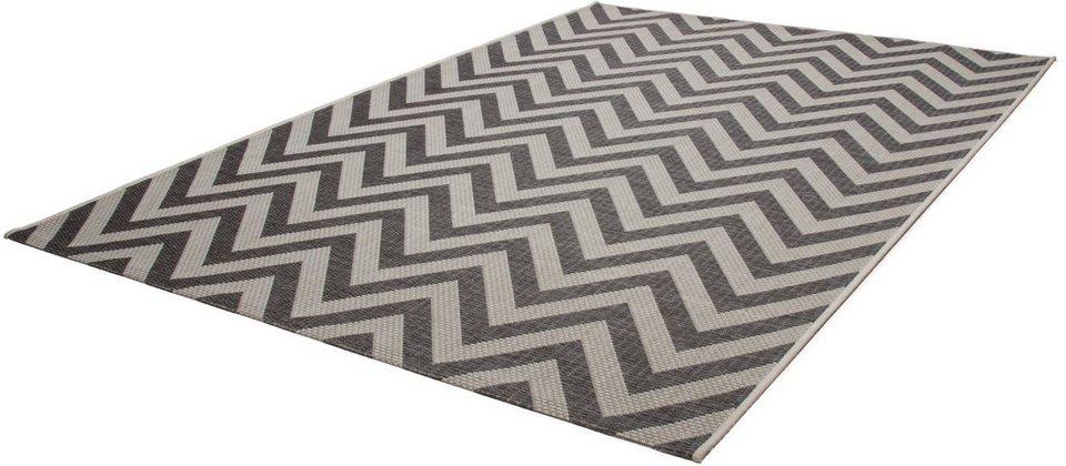 Teppich, Kayoom, »Equator 360«, In- und Outdoor geeignet, gewebt in Grau