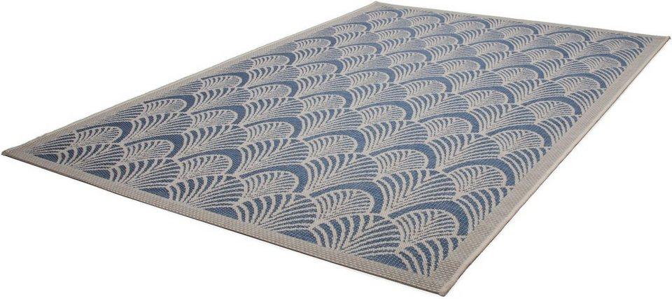 Teppich, Kayoom, »Equator 380«, In- und Outdoor geeignet, gewebt in Blau