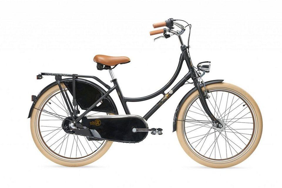S'COOL Kinderrad »chiX classic 24-3« in schwarz