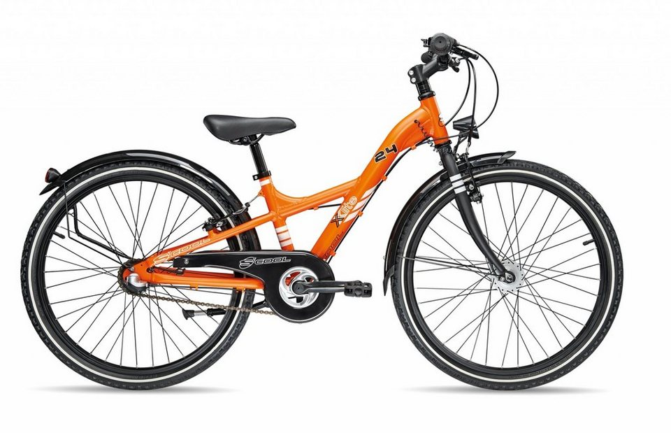 S'COOL Kinderrad »XXlite comp 24-3« in orange