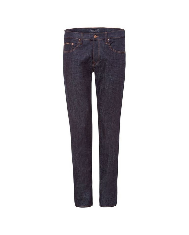 CROSS Jeans ® Tapered Fit Jeans mit Knopfleiste »939 Tapered« in deep blue